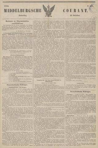 Middelburgsche Courant 1852-10-23