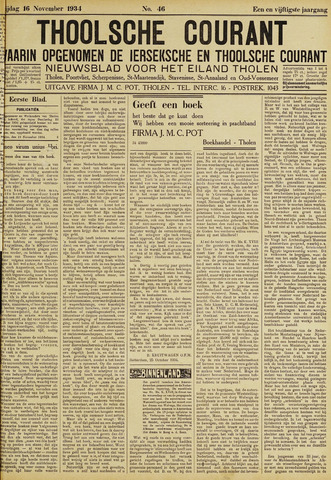 Ierseksche en Thoolsche Courant 1934-11-16