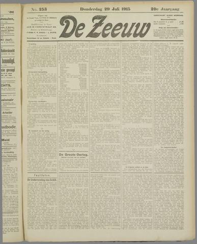 De Zeeuw. Christelijk-historisch nieuwsblad voor Zeeland 1915-07-29