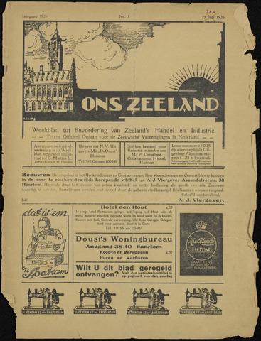 Ons Zeeland / Zeeuwsche editie 1926-01-23