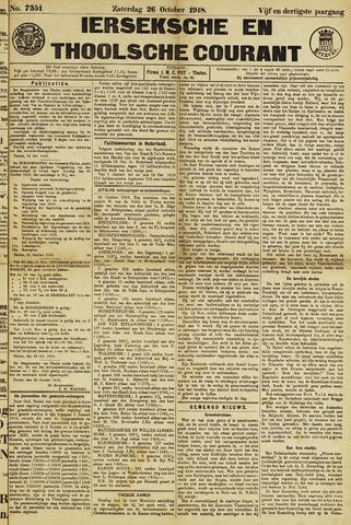 Ierseksche en Thoolsche Courant 1918-10-26