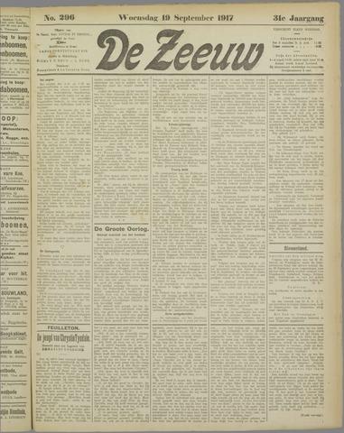 De Zeeuw. Christelijk-historisch nieuwsblad voor Zeeland 1917-09-19