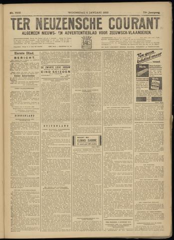 Ter Neuzensche Courant. Algemeen Nieuws- en Advertentieblad voor Zeeuwsch-Vlaanderen / Neuzensche Courant ... (idem) / (Algemeen) nieuws en advertentieblad voor Zeeuwsch-Vlaanderen 1933-01-04