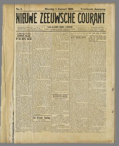 Nieuwe Zeeuwsche Courant 1918
