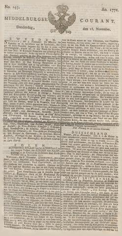 Middelburgsche Courant 1771-11-28