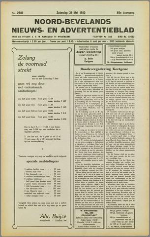 Noord-Bevelands Nieuws- en advertentieblad 1952-05-31