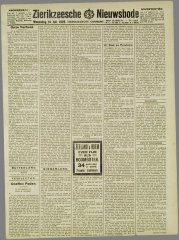 Zierikzeesche Nieuwsbode 1926-07-14