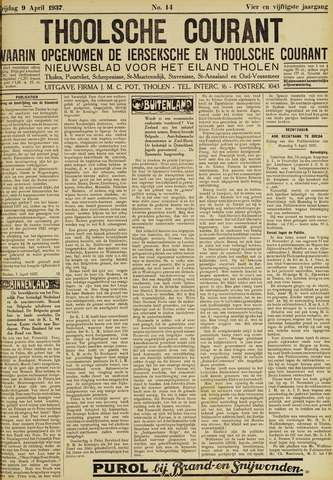 Ierseksche en Thoolsche Courant 1937-04-09