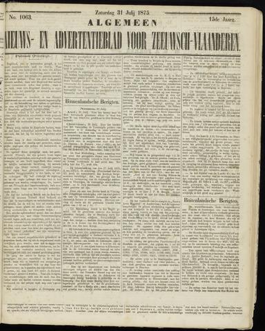 Ter Neuzensche Courant. Algemeen Nieuws- en Advertentieblad voor Zeeuwsch-Vlaanderen / Neuzensche Courant ... (idem) / (Algemeen) nieuws en advertentieblad voor Zeeuwsch-Vlaanderen 1875-07-31