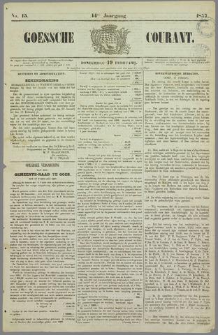 Goessche Courant 1857-02-19