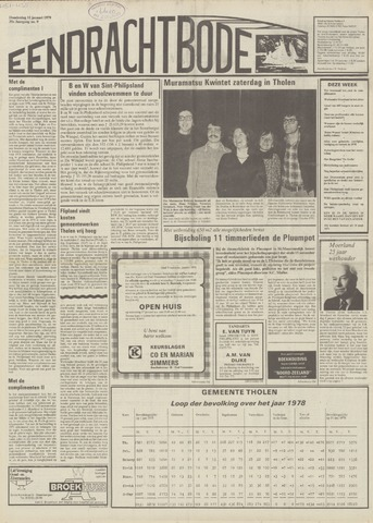 Eendrachtbode (1945-heden)/Mededeelingenblad voor het eiland Tholen (1944/45) 1979-01-11