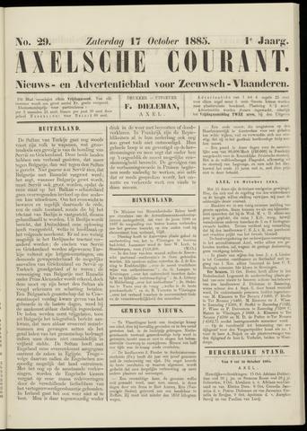 Axelsche Courant 1885-10-17