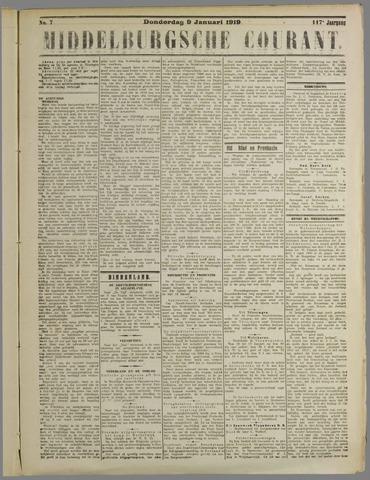 Middelburgsche Courant 1919-01-09