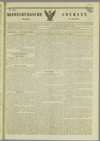 Middelburgsche Courant 1847-11-16