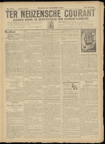 Ter Neuzensche Courant. Algemeen Nieuws- en Advertentieblad voor Zeeuwsch-Vlaanderen / Neuzensche Courant ... (idem) / (Algemeen) nieuws en advertentieblad voor Zeeuwsch-Vlaanderen 1935-12-20