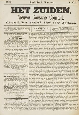 Het Zuiden, Christelijk-historisch blad 1880-11-11