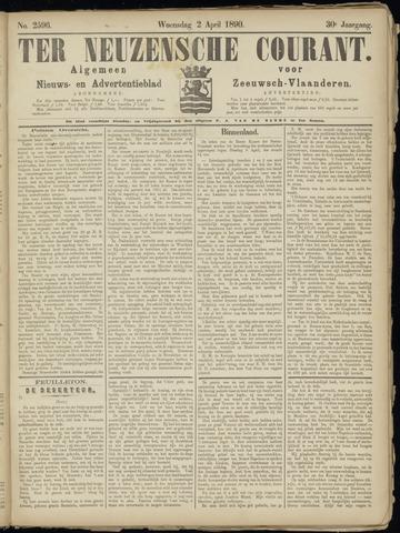 Ter Neuzensche Courant. Algemeen Nieuws- en Advertentieblad voor Zeeuwsch-Vlaanderen / Neuzensche Courant ... (idem) / (Algemeen) nieuws en advertentieblad voor Zeeuwsch-Vlaanderen 1890-04-02
