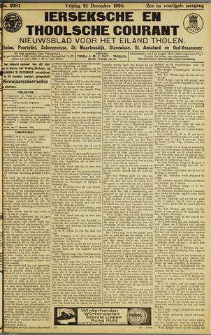 Ierseksche en Thoolsche Courant 1928-12-21