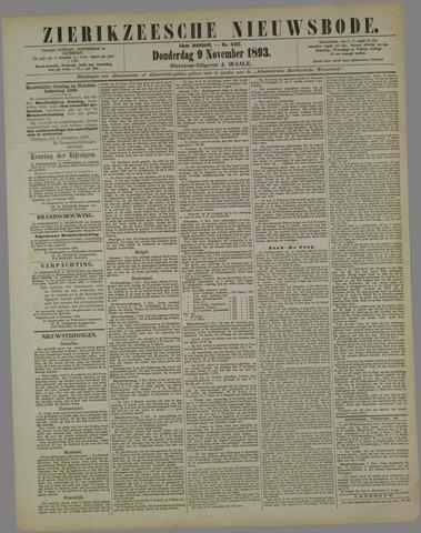 Zierikzeesche Nieuwsbode 1893-11-09