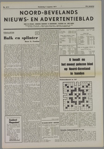Noord-Bevelands Nieuws- en advertentieblad 1977-08-04