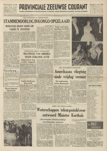 Provinciale Zeeuwse Courant 1960-07-04