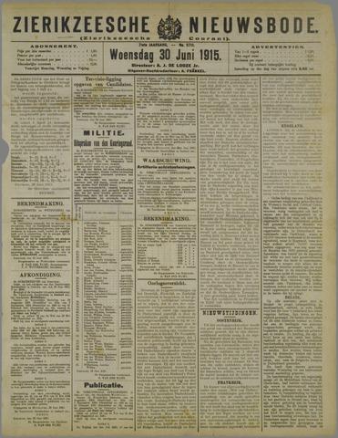 Zierikzeesche Nieuwsbode 1915-06-30