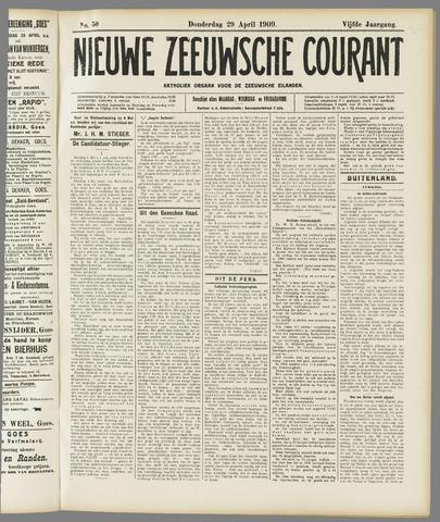 Nieuwe Zeeuwsche Courant 1909-04-29