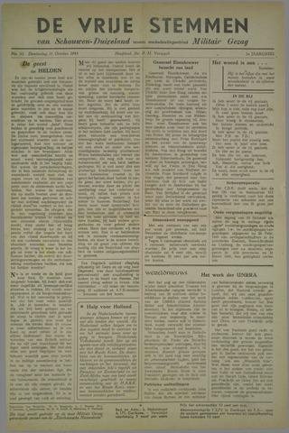 Vrije Stemmen van Schouwen-Duiveland, tevens mededeelingenblad Militair Gezag 1945-10-11