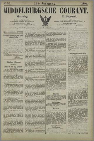 Middelburgsche Courant 1884-02-11
