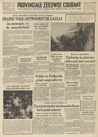 Provinciale Zeeuwse Courant 1962-04-09