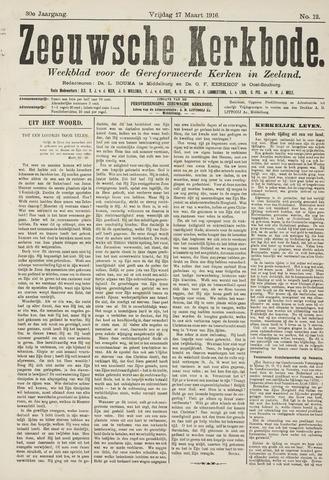 Zeeuwsche kerkbode, weekblad gewijd aan de belangen der gereformeerde kerken/ Zeeuwsch kerkblad 1916-03-17