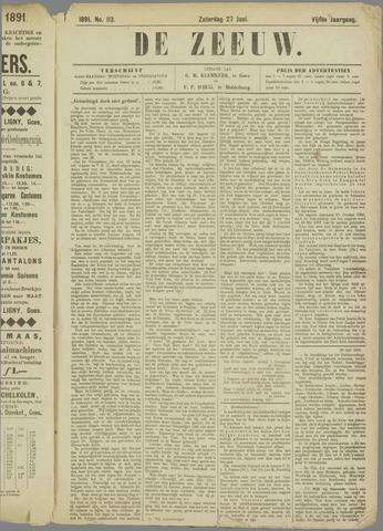 De Zeeuw. Christelijk-historisch nieuwsblad voor Zeeland 1891-06-27