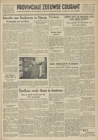 Provinciale Zeeuwse Courant 1949-07-07