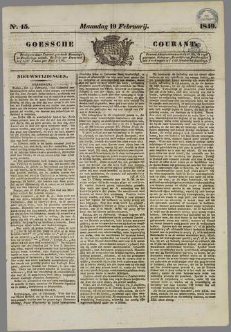 Goessche Courant 1849-02-19