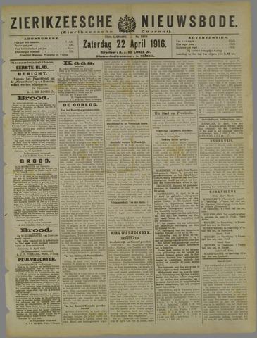 Zierikzeesche Nieuwsbode 1916-04-22