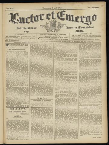 Luctor et Emergo. Antirevolutionair nieuws- en advertentieblad voor Zeeland / Zeeuwsch-Vlaanderen. Orgaan ter verspreiding van de christelijke beginselen in Zeeuwsch-Vlaanderen 1914-07-08