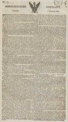 Middelburgsche Courant 1829-02-07