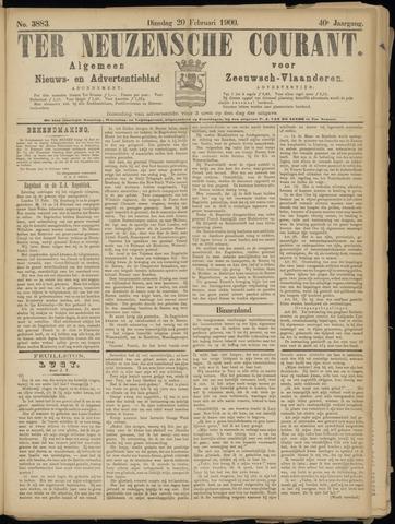 Ter Neuzensche Courant. Algemeen Nieuws- en Advertentieblad voor Zeeuwsch-Vlaanderen / Neuzensche Courant ... (idem) / (Algemeen) nieuws en advertentieblad voor Zeeuwsch-Vlaanderen 1900-02-20