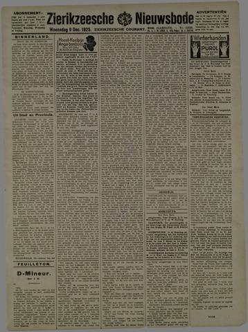 Zierikzeesche Nieuwsbode 1925-12-09