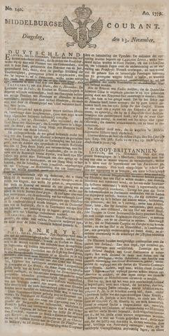 Middelburgsche Courant 1779-11-23