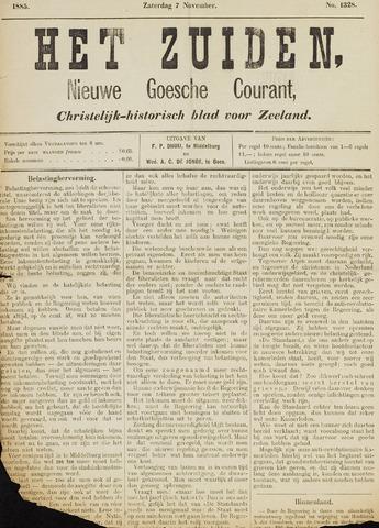 Het Zuiden, Christelijk-historisch blad 1885-11-07