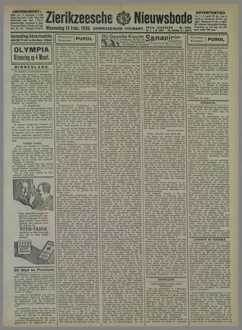 Zierikzeesche Nieuwsbode 1930-02-12