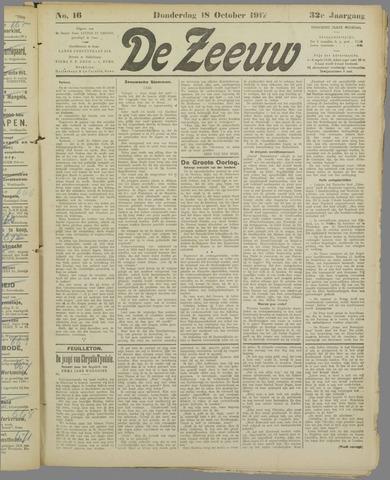 De Zeeuw. Christelijk-historisch nieuwsblad voor Zeeland 1917-10-18