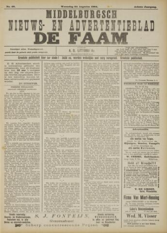 de Faam en de Faam/de Vlissinger 1904-08-24