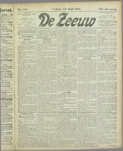 De Zeeuw. Christelijk-historisch nieuwsblad voor Zeeland 1919-06-20