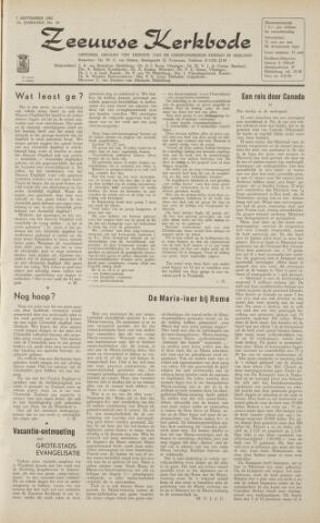 Zeeuwsche kerkbode, weekblad gewijd aan de belangen der gereformeerde kerken/ Zeeuwsch kerkblad 1962-09-07