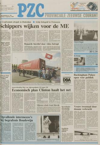 Provinciale Zeeuwse Courant 1993-08-07