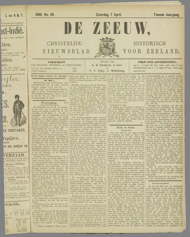 De Zeeuw. Christelijk-historisch nieuwsblad voor Zeeland 1888-04-07