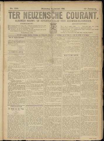 Ter Neuzensche Courant. Algemeen Nieuws- en Advertentieblad voor Zeeuwsch-Vlaanderen / Neuzensche Courant ... (idem) / (Algemeen) nieuws en advertentieblad voor Zeeuwsch-Vlaanderen 1921-01-10