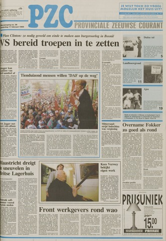 Provinciale Zeeuwse Courant 1993-02-11